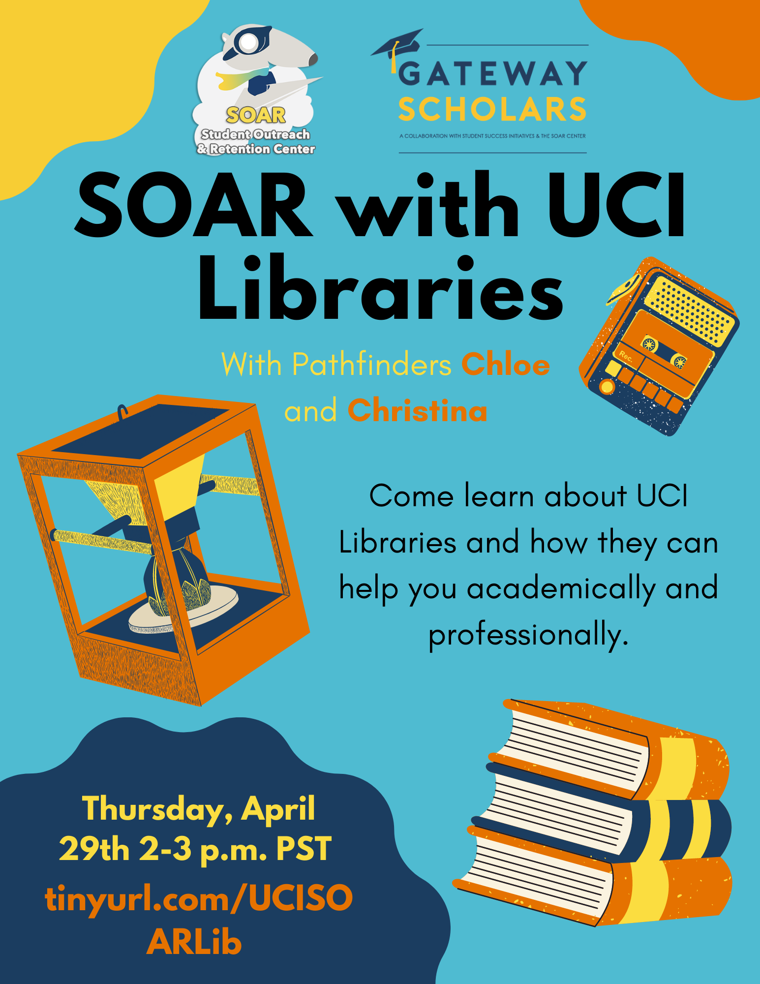 SOAR with UCI Libraries Flyer