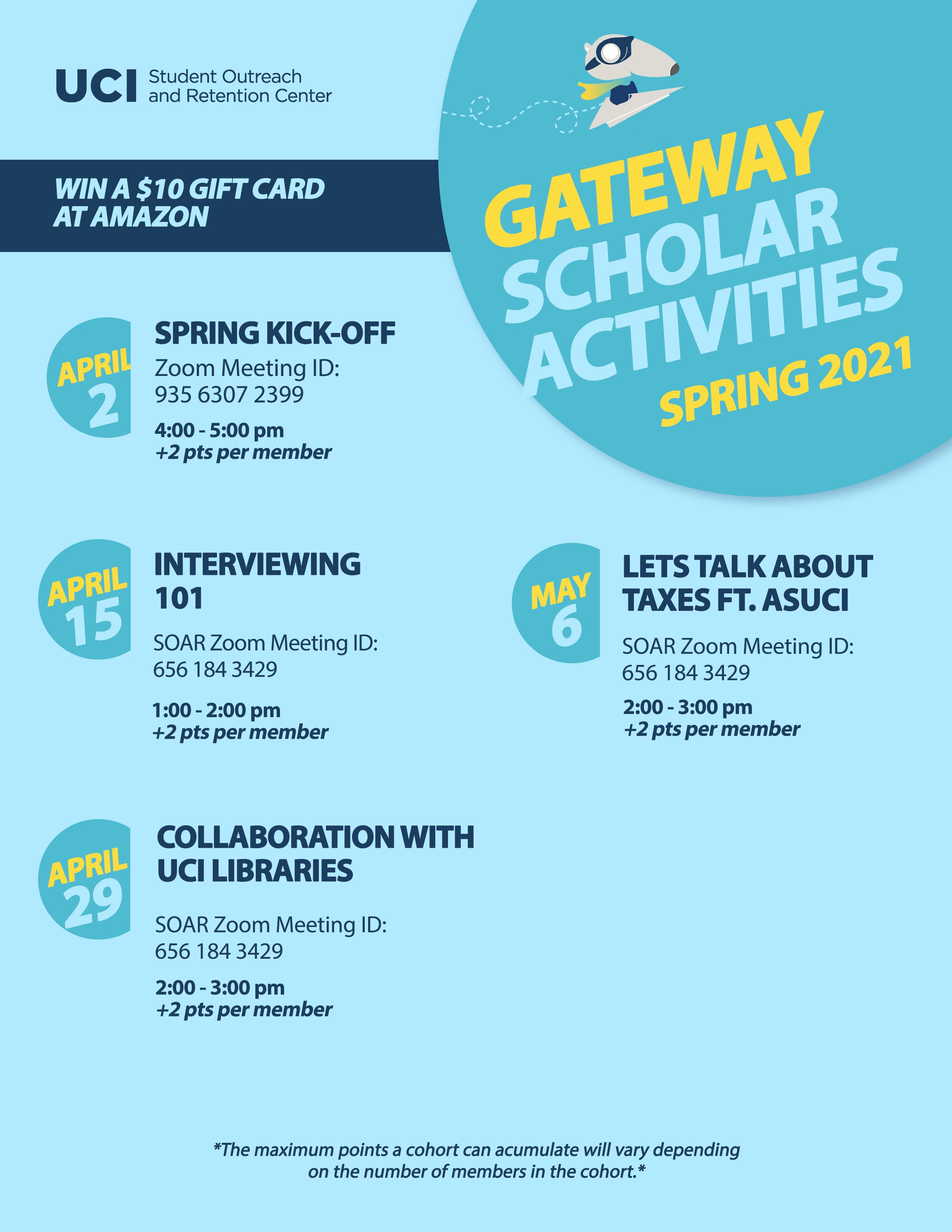 Spring 2021 Event Calendar Pt 1