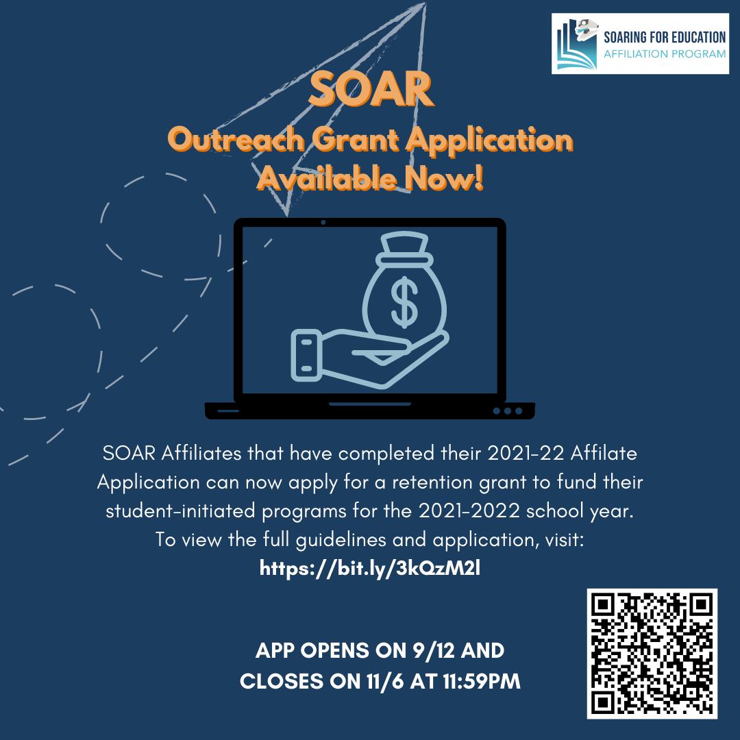 SOAR Outreach Grant Application Instagram Post